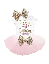 Smakke Two Year Baby Sets Newborn Baby Girl 1St 2Nd Birthday Cake Smash Outfit