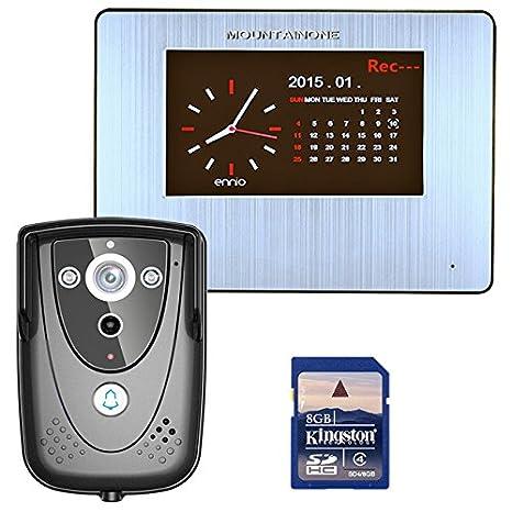 7 DVR grabación Color teléfono de Pantalla táctil de Puerta ...