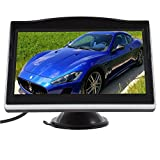 Newest Auto Car Sucker Monitor 5.0 Inch TFT LCD Screen Supports Car DVD VCR Reverse Rear View Monitor Multi-language