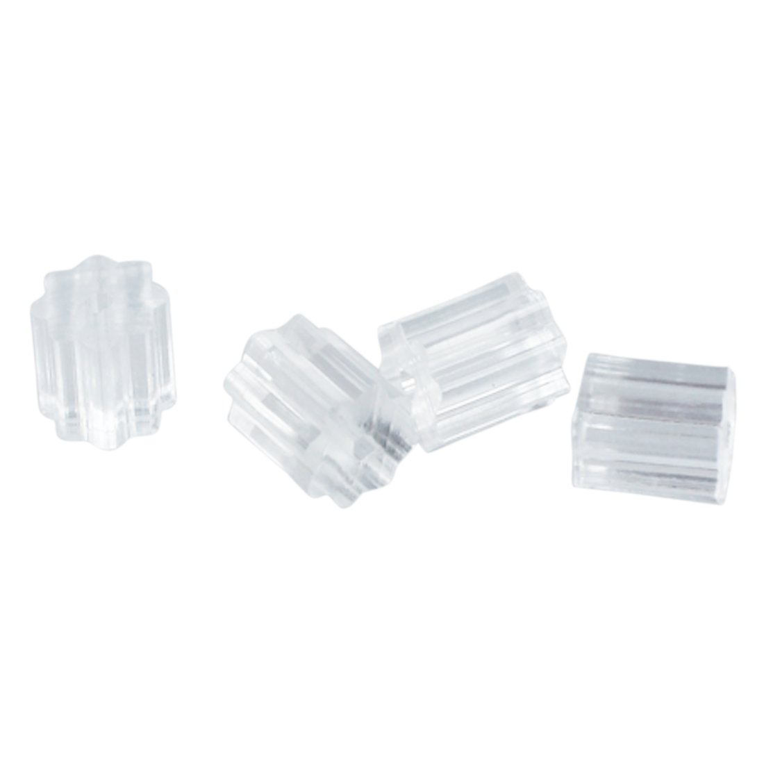 100 x Tapon de Pendientes 3mm Seguro para para Gancho de Pendientes /¨C Transparente TOOGOO R