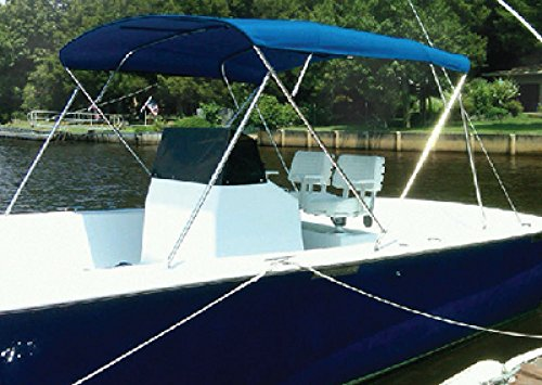 (Carver Covers 603WV 3 Bow Bimini Top 73-78In Wh Vinyl Canvas Made by Carver Covers)