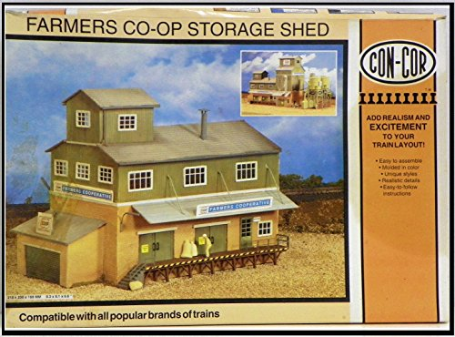 Con Cor Farmers Co Op Storage Shed HO Scale