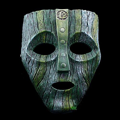 (Yichener Cameron Diaz Loki Halloween Resin Masks Jim Carrey Venetian Mask The God of Mischief Masquerade Replica Cosplay Costume)