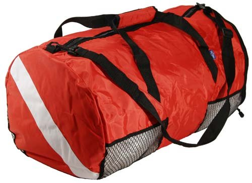 (New ScubaMax Dive Flag Mesh Duffel Bag for Scuba Divers and Snorkelers - Folds into Disk Shape)