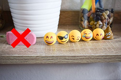 Pencil Top Erasers - Emoji Erasers for Kids - Fun Pencil Top Eraser - Everything Emoji Cute Pencil Eraser Tops (Set 4 (18 pack)) by I EM JI (Image #3)
