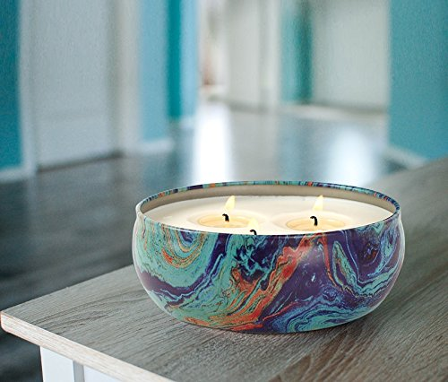 LA JOLIE MUSE Citronella Candles Scented Soy Wax 3 Wick Tin, 70 Hour Burn, Outdoor and Indoor by LA JOLIE MUSE (Image #3)