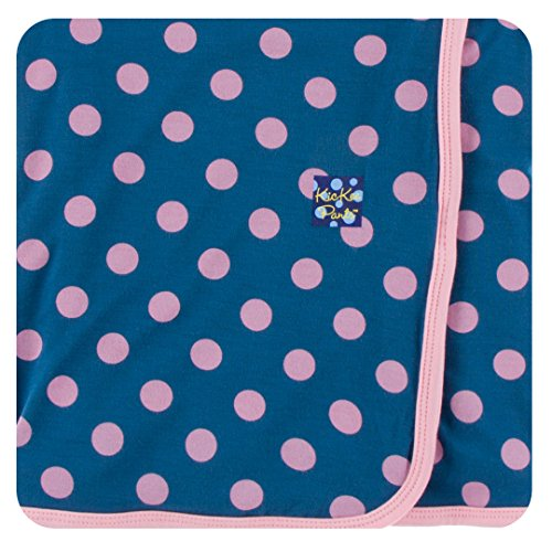 KicKee Pants Little Girls Print Swaddling Blanket - Twilight Dot, One Size