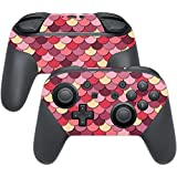 MightySkins Protective Vinyl Skin Decal for Nintendo Switch Pro Controller wrap Cover Sticker Skins Pink Scales