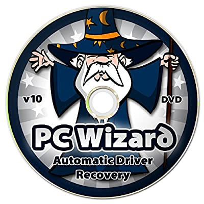 PC Wizard - Automatic Universal Drivers Recovery Restore Update DVD Disc for Windows 10, 8.1, 7, Vista, XP (32-bit & 64-bit) - Supports All Hardware Devices