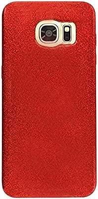 Coovertify Funda Purpurina Brillante Red Rose Samsung S7 Edge, Carcasa roja resistente de Gel Silicona con Brillo Rojo Rosa para Samsung Galaxy S7 ...