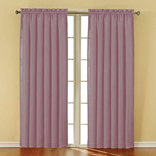 BRIGHTLINEN Vintage 100 Velvet 50 by 144 inches Thick Blackout Elegant Thermal Insulated Blackout Curtains Carnation