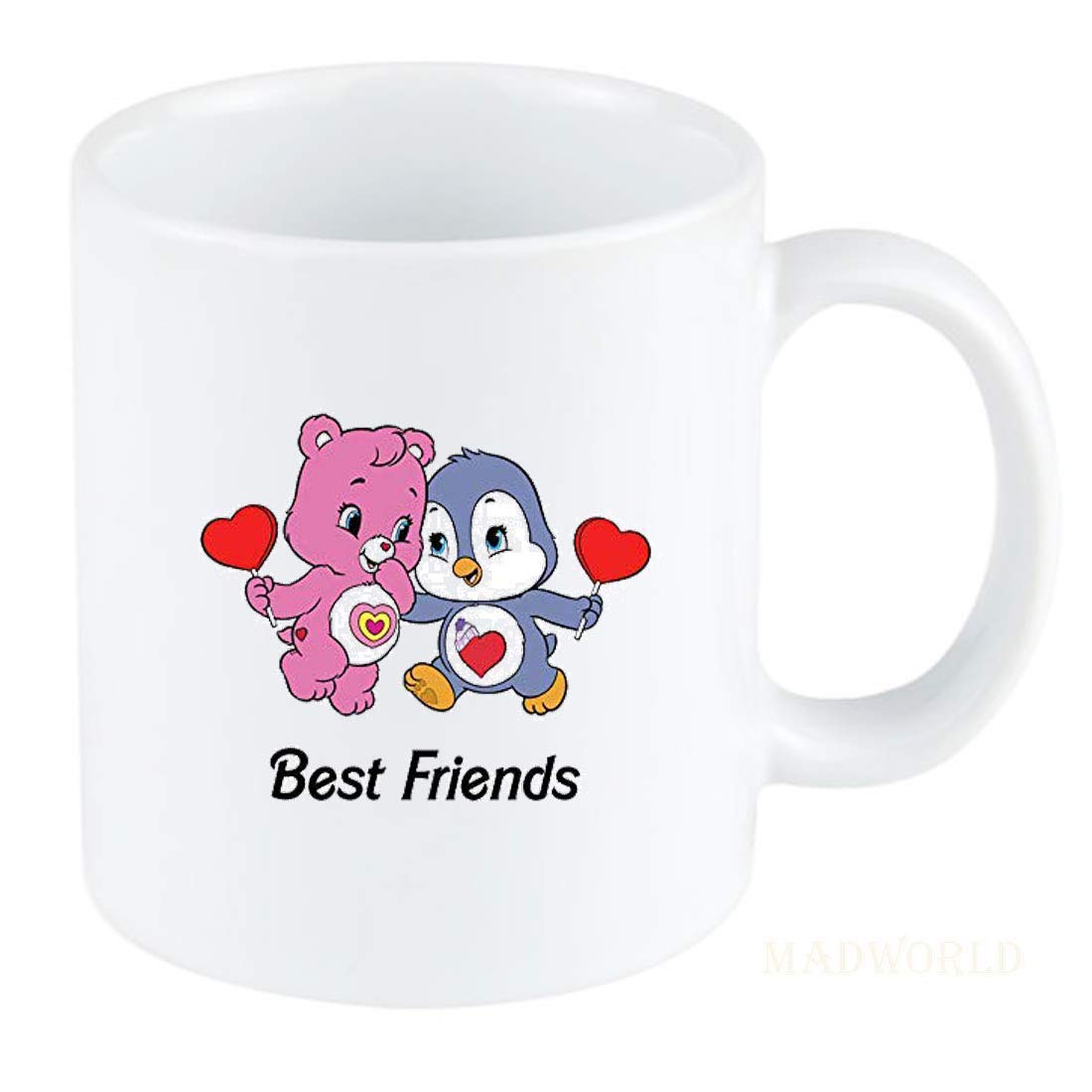 Buy Madworld Best Friends Attractive Friendship Day Quotes With Beautifull Cute Image Printed Ceramic White Coffee Mug Best Gift For Birthday Friends Family Boyfriend Valentine Day Online At Low Prices In India