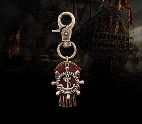 Vividly Men's Rudder Anchor Modeling Key Chain Car Key Chain Retro Key Chain