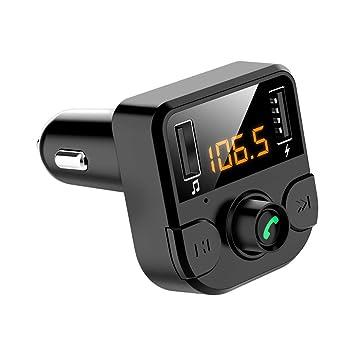 Zerama Transmisor del Cargador Dual de Bluetooth del Coche LED USB ...