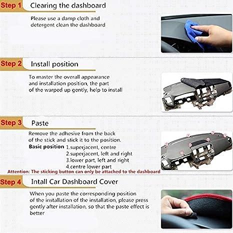 GYYBPDZPZ Dash Cover Dashboard Mat///2 Strati Car Dashmat Pad interno Tappeto Dashmat Tappeto Parasole per Jeep Cherokee KL 2014 2015 2016 2017 2018 Guida a sinistra