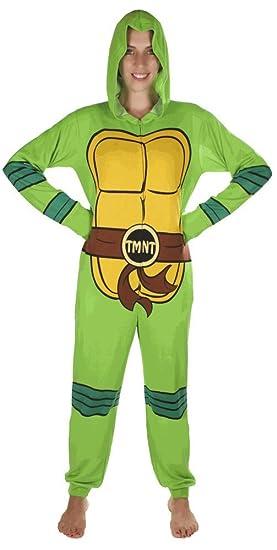 Nickelodeon Adult Teenage Mutant Ninja Turtle Hooded One Piece Pajamas