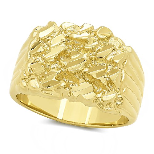 Gold Plated Nugget Statement Ring product image