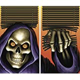 """WOWindow Posters Grim Reaper Halloween Window Decoration Two 34.5""""x60"""" backlit posters"""