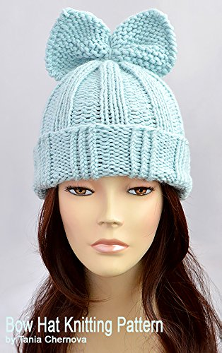 83af1011065 Fairy Kei Hat Knitting Pattern Bow Hat Pattern Knit Beanie Pattern Sweet  Lolita Bonnet Femme Template