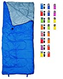 RevalCamp Lightweight Blue Sleeping Bag by Indoor & Outdoor use. Great for Kids, Youth & Adults. Ultralight and compact bags are perfect for hiking, backpacking, camping & travel.