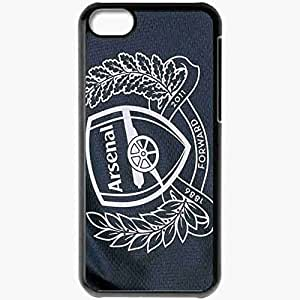 Personalized iPhone 5C Cell phone Case/Cover Skin Arsenal Football Club Gunners Emblem Logo Coat Of Arms Black