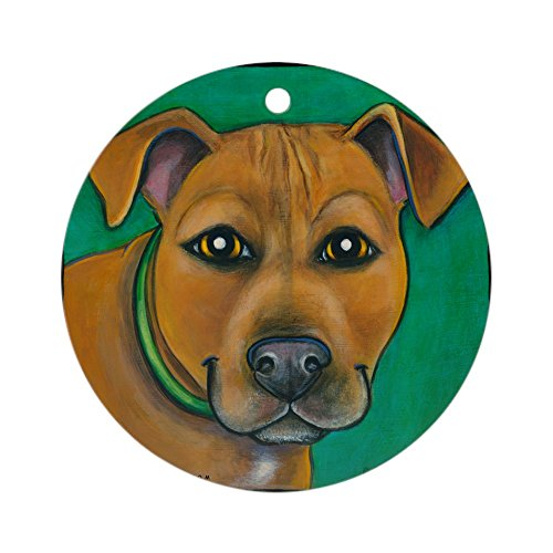 (CafePress Pit Bull Mix Toby Ornament (Round) Round Holiday Christmas Ornament)