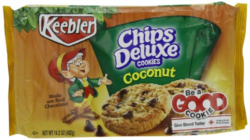 (Keebler Coconut Chips Deluxe Cookies, 14.2-Ounce (Pack of 4))