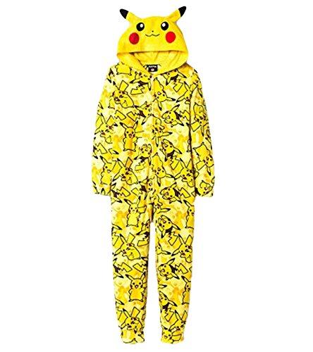 [Pokemon Pikachu Boys Union Suit Pajamas 4-16 (L (10/12))] (May Costume Pokemon)