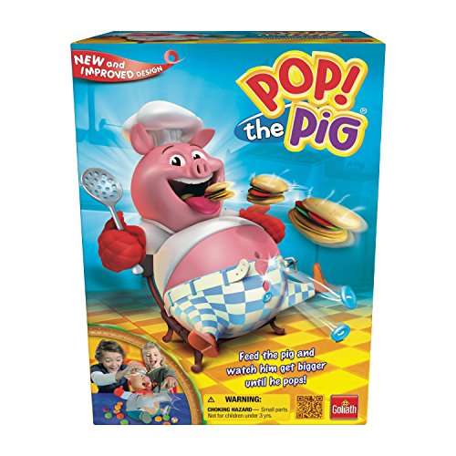 Pop the Pig Game - New and Improved - Belly-Busting Fun as You Feed Him Burgers and Watch His Belly Grow ()