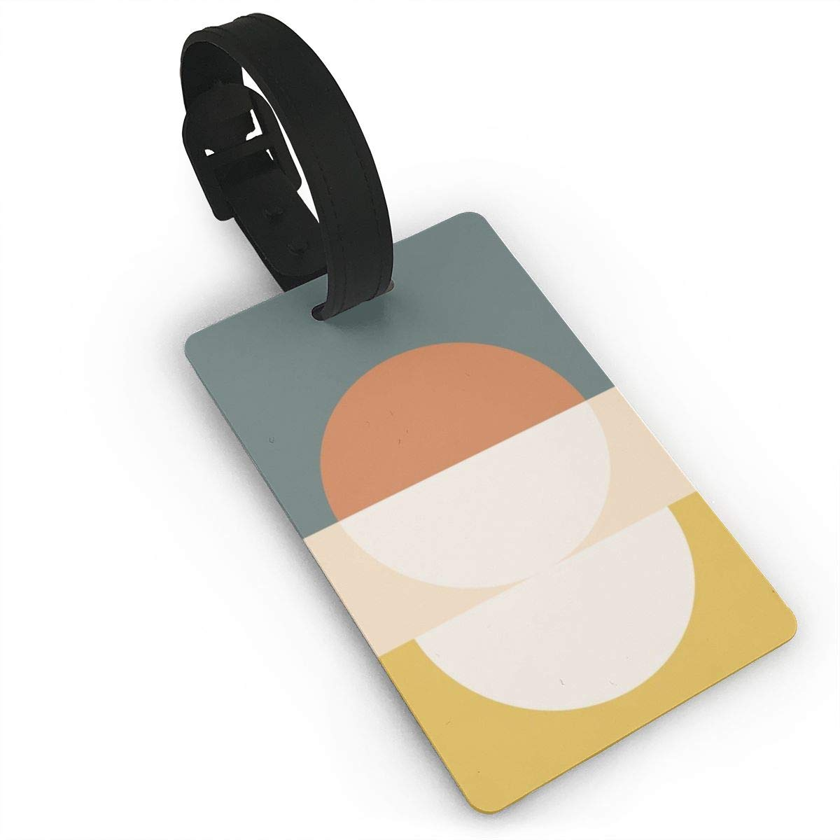 Set of 2 Abstract Luggage Tags Suitcase Labels Bag Travel Accessories