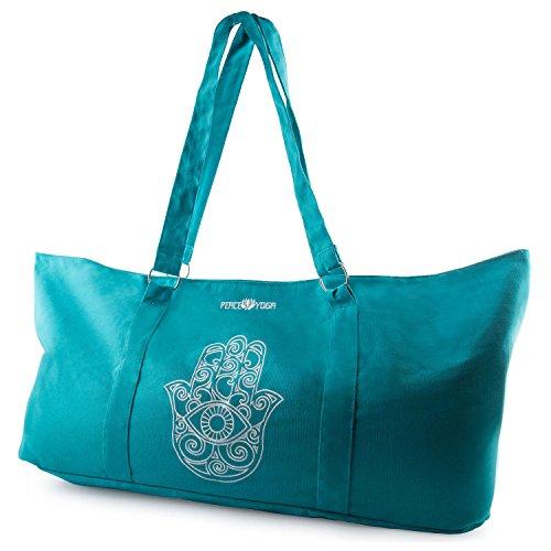 Peace Yoga Yoga Mat Tote Bag - Hand Desigh - Cylinder Tote Purse