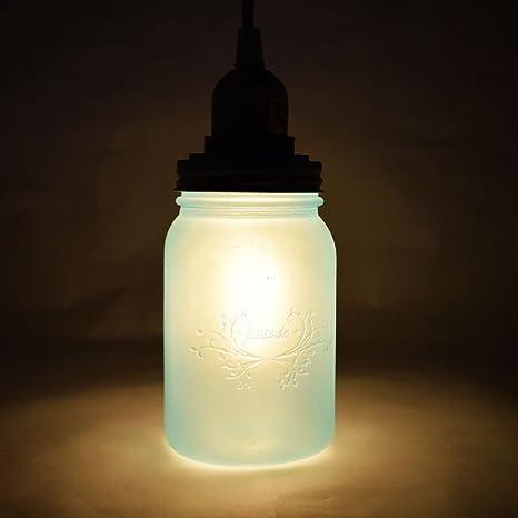 Amazon fantado frozen blue mason jar pendant light kit wide fantado frozen blue mason jar pendant light kit wide mouth clear cord 15ft aloadofball Gallery
