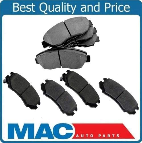 (Mac Auto Parts 36552 GM Cars & Van Dash4 Quiet Stop Ceramic Front & Rear Brake Pads CD6 CD6)