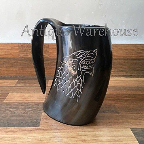 Viking Drinking Horn Mug Handmade Beer Wine Mug Goblet Tankard Mead Medieval Mug