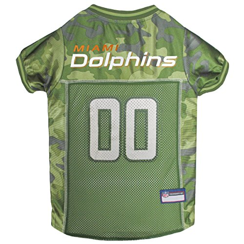 NFL Miami Dolphins Camouflage Dog Jersey, X-Large. - CAMO PET Jersey Available in 5 Sizes & 32 NFL Teams. Hunting Dog Shirt -
