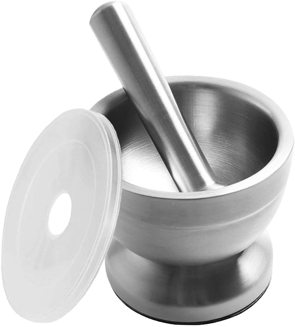 Pill Crusher Spice Grinder Herb Bowl Small Stainless Steel Mortar and Pestle