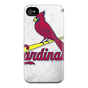 Bumper Hard Phone Covers For Iphone 4/4s (QOf11296kLke) Customized Beautiful St. Louis Cardinals Series