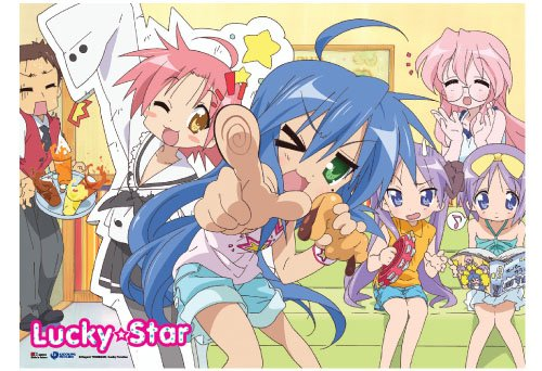 Great Eastern Entertainment Lucky Star Girls Wall Scroll, 33