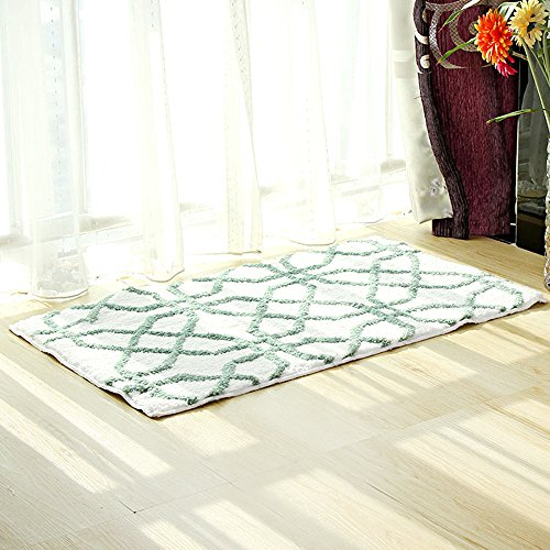 Accent Throw Rug (Uphome Geometric Series Moroccan Microfiber Bathroom Shower Accent Rug - Non-slip Soft Absorbent Decorative Bathroom Floor Mat Carpet (26