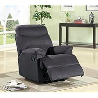 US Pride Furniture Microfiber Recliner, Black