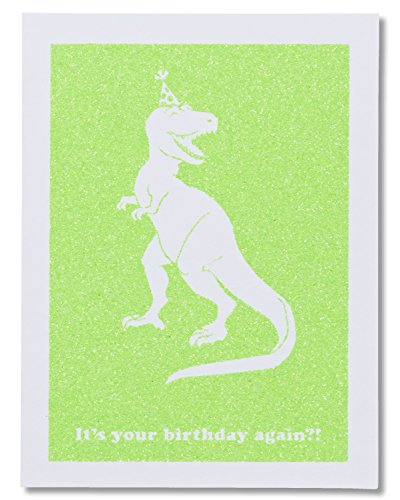 American Greetings Funny Dino-Mite Birthday Card for Him with Glitter