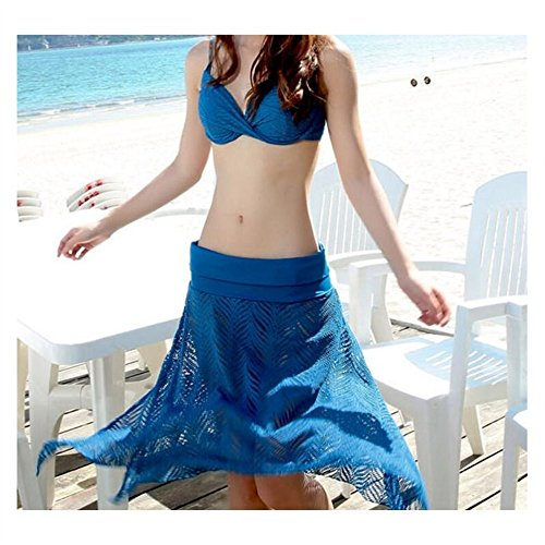 Women Swimsuit For Women Split Bandage Blue Sling Wasnotfound Girls Color Solid Style Dress Fashion BwHPHF