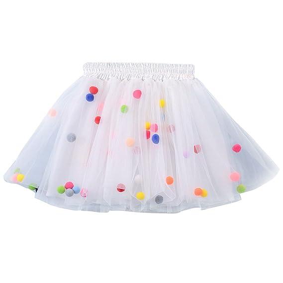 Kinder Mädchen Pettiskirt Tutu Rock Baby Fluffy Ballett Unterrock Petticoat HC