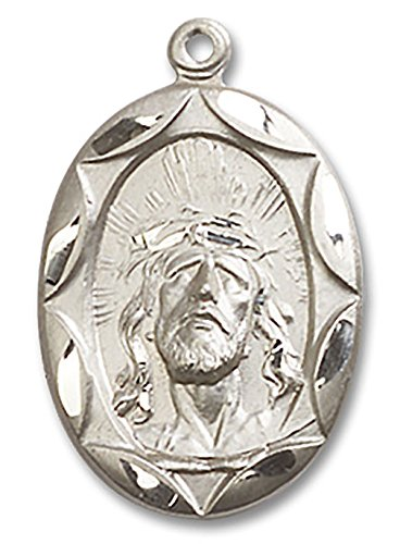 Ecce Homo Christ Head Pendant with Etched Border - Pendant ()