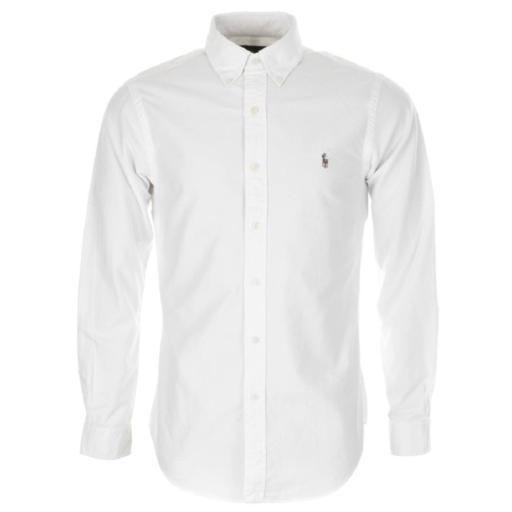 Ralph Lauren . . . - Camicia Casual - Tinta Unita - Button-Down - Uomo