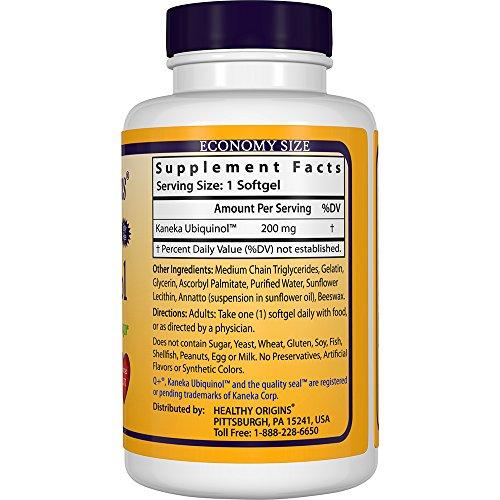 Healthy Origins Ubiquinol Soy Free/Non-GMO Gels, 200 Mg, 150 Count by Healthy Origins (Image #3)