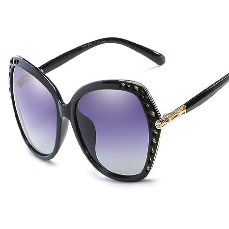 Liyuzhu Gafas de Sol Elegantes con Montura de Gran tamaño ...