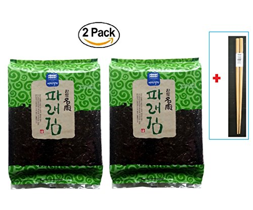 (200 Sheets)Dried Kelp Seaweed Nori Raw Unseasoned Diet Food Snack Sushi + SoltreeBundle Natural Bamboo Chopstick (1 - Sushi Seaweed Toasted