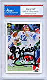 Jim Kelly Autographed Buffalo Bills Encapsulated Trading Card - JSA Certified Authentic