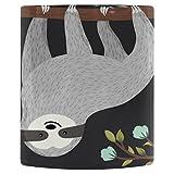 InterestPrint Funny Cartoon Animal Sloth on Tree Heat Sensitive Color Changing Coffee Mug, Cute Baby Sloth Flower Branch Morphing Travel Mug Tea Cup Funny, 11 Ounce Mug